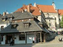Praça da cidade de Kazimierz Dolny Fotos de Stock Royalty Free