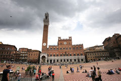 Praça del Campo, Siena, Italy Imagem de Stock