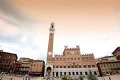 Praça del Campo, Siena, Italy Imagens de Stock