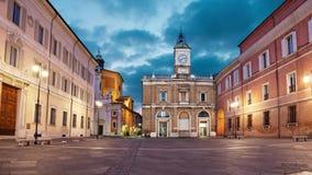 Praça del Popolo na noite, Ravenna vídeos de arquivo