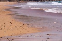 Praa lixa a praia, Cornualha, Reino Unido Fotografia de Stock Royalty Free