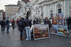 Praça Navona Imagem de Stock Royalty Free