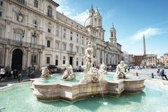 Praça Navona em Roma Fotografia de Stock