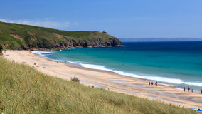 Praa Sands Beach Cornwall Stock Images