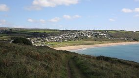 Praa Sands beach South West England Uk stock footage