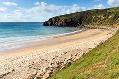 Praa Sands Cornwall England near Penzance and Mullion Royalty Free Stock Image