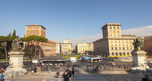 Praça Venezia, Roma Imagem de Stock Royalty Free