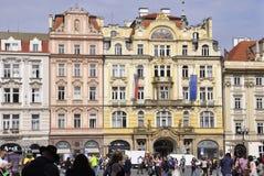 Praag, 29 augustus: Historische gebouwen in de Tsjechische Republiek van Praag Royalty-vrije Stock Foto's