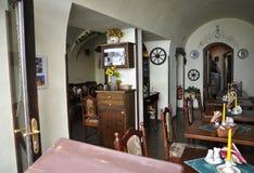 Praag, 29 augustus: Restaurantbinnenland van Praag in Tsjechische Republiek Royalty-vrije Stock Foto