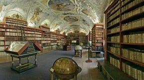 Praag-barokke bibliotheek Stock Foto