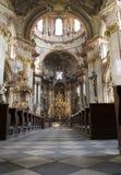 Praag - binnenland van barokke kerk van st. Nichola Royalty-vrije Stock Foto's