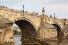 praag Charles Bridge Royalty-vrije Stock Foto