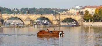 praag Charles Bridge Royalty-vrije Stock Foto's