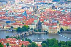 Praag Charles Bridge, Tsjechische Republiek Stock Afbeeldingen