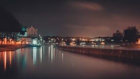 Praag Charles Bridge van de linkeroever van Vltava ` s Royalty-vrije Stock Foto