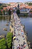 Praag, de brug van Charles Stock Foto