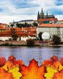 Praag in de herfstconcept Royalty-vrije Stock Foto's