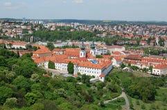 Praag in de lente Het Klooster van Strahov Royalty-vrije Stock Afbeeldingen