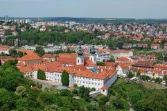 Praag in de lente Het Klooster van Strahov Royalty-vrije Stock Foto's