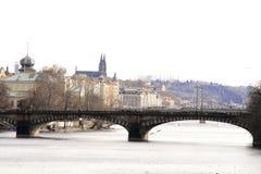 Praag. De rivier van Vltava Royalty-vrije Stock Afbeeldingen