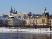 Praag. De winter Royalty-vrije Stock Afbeeldingen