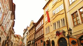 Praag in de winter Stock Foto's