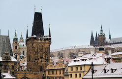 Praag in de winter Stock Fotografie