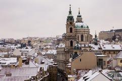 Praag in de wintertijd Royalty-vrije Stock Afbeeldingen