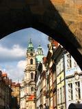 Praag: Een mooie Kerk Stock Afbeelding