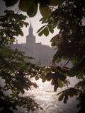Praag en de rivier Stock Foto