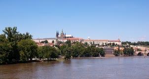 Praag en rivier 3 Royalty-vrije Stock Afbeelding