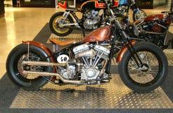 PRAAG - 13 FEBRUARI: Retro het rennen motorfiets. 13 februari, 2013 Royalty-vrije Stock Afbeelding