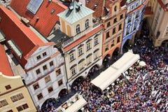 Praag, het Oude Vierkant van de Stad Stock Foto