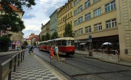 Praag, hoofdstad van de Tsjechische Republiek - straten royalty-vrije stock foto