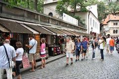 Praag - Joods Kwart Stock Foto
