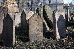 Praag, Joodse Begraafplaats Stock Afbeelding