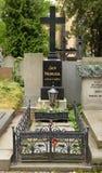 PRAAG - JUN 19: Laatste rustende plaats van Jan Neruda Royalty-vrije Stock Foto