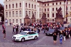 praag Militairenwacht van eer dichtbij het Presidentiële paleis Stock Foto's