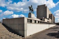Praag, Nationaal Gedenkteken op de Vitkov-Heuvel stock afbeelding