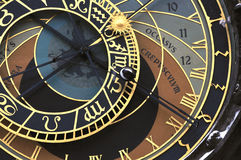 Praag orloj (astronomische klok) Royalty-vrije Stock Foto