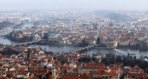 Praag. Panorama Stock Afbeelding