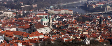 Praag. Panorama Stock Foto's