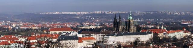 Praag. Panorama Stock Afbeeldingen