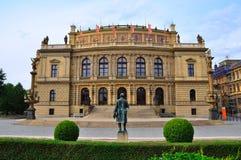 Praag Rudolfinum, Tsjechische Republiek Stock Foto's
