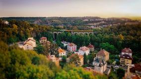Praag Semmering, Prokop-Vallei, Tsjechische Republiek Stock Foto's