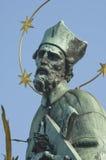 Praag St. Charles Bridge Statue stock fotografie