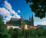 Praag-St.Vitus kathedraal Royalty-vrije Stock Foto's