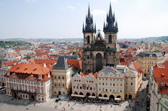 Praag, Tsjechisch Rep: Kerk van Onze Dame vóór Tyn Royalty-vrije Stock Afbeeldingen