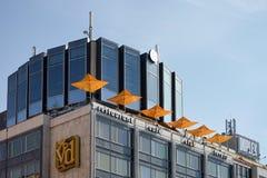 PRAAG, TSJECHISCHE REPUBLIC/EUROPE - 24 SEPTEMBER: De moderne bouw o Royalty-vrije Stock Foto's