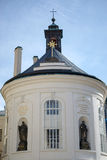 PRAAG, TSJECHISCHE REPUBLIC/EUROPE - 24 SEPTEMBER: Heilige Dwarskapel Stock Afbeelding